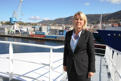 Trade Minister Monica Mæland, who hails from Bergen, is seeking approval from Parliament to reduce the state's stake in both Telenor and Kongsberg Gruppen to 34 percent. The government is expected to also propose sell-offs of other major stockholdings in Norwegian business. PHOTO: Nærings- og Fiskeri Departementet