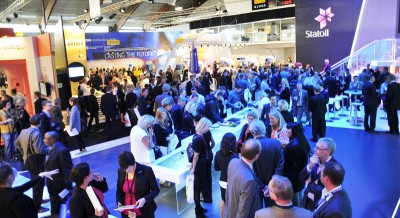 Around 60,000 oil industry players are gathering in Stavanger this week for the Offshore Northern Seas conference and exhibition, a record turnout. PHOTO: ONS/Kallen