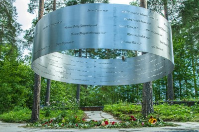 There's now a new memorial on Utøya to the victims of the 2011 massacre, featuring all their names. PHOTO: Arbeiderpartiet