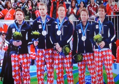 Norway's curling team has won international attention as much for their clown-like trousers, as their skills, and secured the silver medal at the last Winter Olympics in Vancouver. They've always stressed the need to have fun, but are now appealing for serious support after losing to opponents they claim are better financed. PHOTO: NRK screen grab