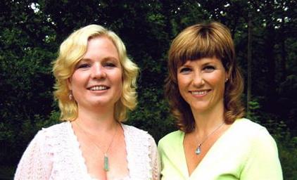The angel book's authors Elisabeth Samnøy (left) and Princess Martha Louise. PHOTO: Astarte Education