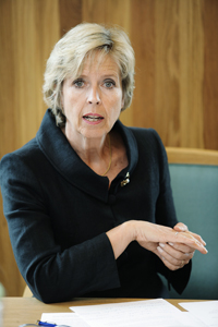 Health Minister Anne-Grete Strøm-Erichsen faces protests from within her own government, over her response to hospital reform. PHOTO: Helsedepartementet