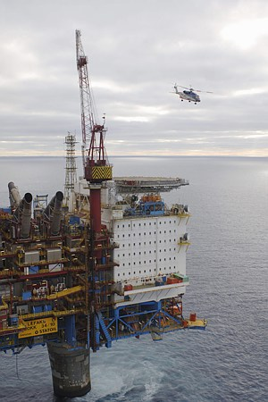 One of the most serious recent drilling incidents on a Norwegian installation occurred on Statoil's Gullfaks C platform, when a gas leak raised the risk of blowout. It was averted. PHOTO: Statoil/Øyvind Hagen