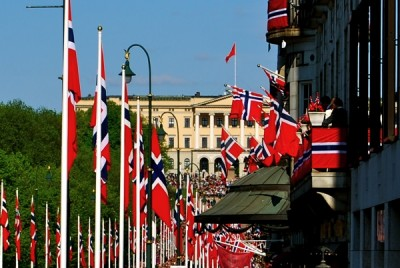 The flags were up once again on Saturday, as they always are in Oslo on the 17th of May. PHOTO: newsinenglish.no