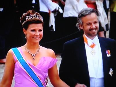 Princess Matha Louise and Ari Behn, attending a royal wedding in Stockholm. Now their marriage is ending. PHOTO: NRK screen grab/newsinenglish.no