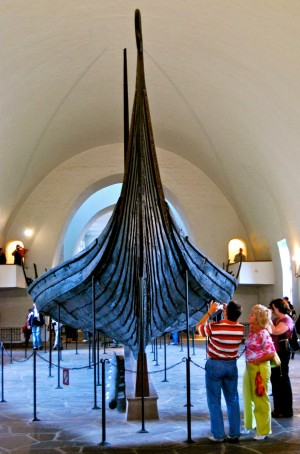Debate continues over the future home of Norway's national treasure, its famed Viking ships. Pictured here, the Oseberg vessel excavated in Vestfold in 1904. PHOTO: Views and News