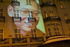 Norwegian-Chinese relations froze after the Nobel Peace Prize was awarded to jailed human rights activist Liu Xiaobo. He wasn't allowed to attend the ceremony in Oslo, so his image was projected onto the wall of the Grand Hotel, where the Peace Prize winners traditionally reside. PHOTO: newsinenglish.no