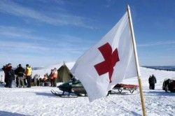 The Red Cross always sets up aid stations in the mountains during Easter. PHOTO: Norges Røde Kors