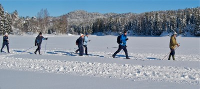 Norwegians have been doing more cross-country skiing than ever before. PHOTO: Views and News