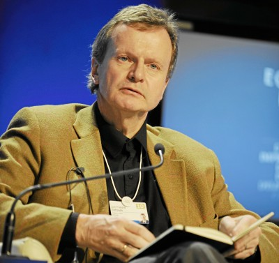 CEO Jon Fredrik Baksaas, pictured here at the World Economic Forum, has taken harsh criticism for his handling of the outages. PHOTO: Wikipedia Commons