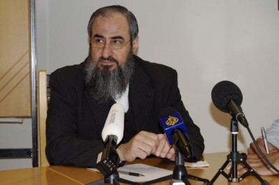 Mullah Krekar, at the press conference with foreign correspondents in Oslo where he said things that were interpreted as threats against Erna Solberg, now Norway's prime minister. PHOTO: Nina Berglund/newsinenglish.no