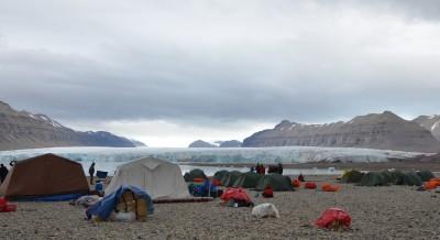 Polar bear attack Svalbard base camp