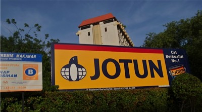 Jotun is one of Norway's most international companies, as evidenced by a large Jotun billboard that greets arrivals in Labuan, East Malaysia. The Norwegian paint giant has made its presence known in Malaysia, along with other places, for several decades. PHOTO: Views and News