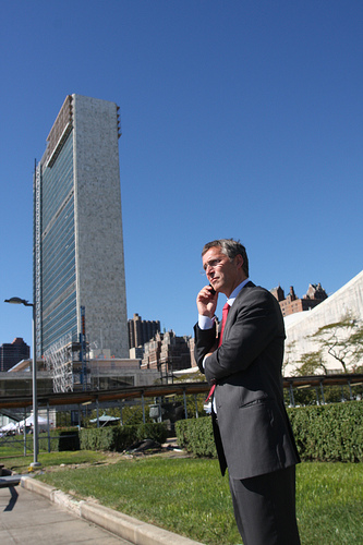 Prime Minister Jens Stoltenberg is have another busy week at the UN in New York, just like he did last year at this time. PHOTO: Statsministerenskontor