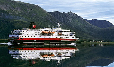 "The Hurtigruten vessel ""MS Richard With"" is a sistership of the stricken ""MS Nordlys,"" but hasn't been taken out of service. PHOTO: Hurtigruten"