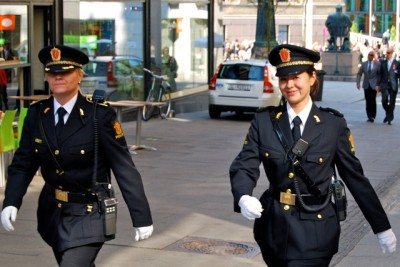"""A majority of police in Norway want to maintain a """"civil"""" image and don't want to always be armed. PHOTO: Views and News"""