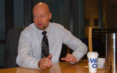 Slyngstad described the fund itself as holding up fairly well given the financial turmoil. PHOTO: Views and News