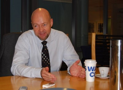 Yngve Slyngstad, chief executive of Norges Bank Investment Management, shared his thoughts on the finance crisis and brought along his own coffee. PHOTO: Views and News