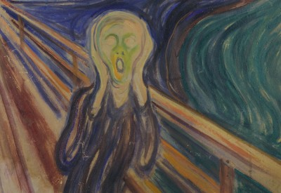 "Edvard Munch's ""Skriket"" (The Scream) is by far his most famous image. Soon a local liquor producer will be able to sell ""Scream Vodka."" PHOTO: Munch Museum"