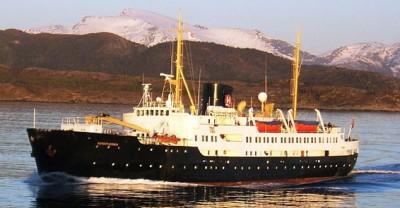 "NRK will document the final scheduled voyage of Hurtiguten's oldest ship, the ""MS Nordstjernen"" this spring. PHOTO: Hurtigruten"