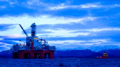 "Statoil has struck even more oil off Norway, with the help of the ""Aker Barents"" drilling rig. PHOTO: Aker"