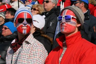 Norwegians now number 5 million, many of them highly patriotic. PHOTO: Petter Tandberg/Ski-VM