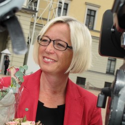 "Marit Arnstad, a former oil and energy minister for the Center Party in an earlier center-right coalition government, is expected to help ""save"" the party in her new post as Transport Minister. PHOTO: Senterpartiet"