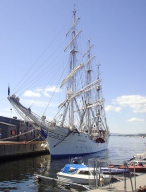 "The tall ship ""Christian Radich"" is celebrating her 75th anniversary this year with, among other things, a jubilee cruise along the Norwegian coast. PHOTO: Views and News"