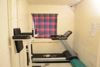 This is the room where Breivik can use exercise equipment in his cell complex at Ila Prison. PHOTO: la fengsel og forvaringsanstalt/Glefs AS