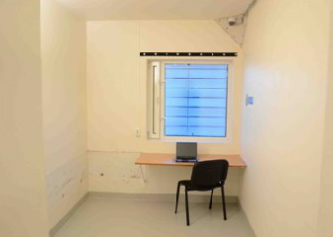 Ila Prison released this photo of the cell where Anders Behring Breivik can work. He's said to be writing a book. PHOTO: Ila fengsel og forvaringsanstalt/Glefs AS