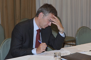 "Prime Minister Jens Stoltenberg is always under a lot of pressure, but at least his son obtained a visa for China, according to business daily ""Dagens Næringsliv."" PHOTO: Statsministerens kontor"