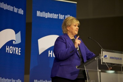 Conservatives leader Erna Solberg, who may become prime minister next week, doesn't seen opposed to attacking Syria without a UN mandate. PHOTO: Hoyre