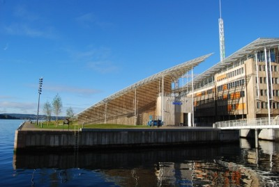 "The new Astrup Fearnley Museum opened in an architecturally acclaimed new building in the expensive waterfront complex at Tjuvholmen last year, but now faces much higher costs and is ""inviting"" the state to provide some funding. PHOTO: newsinenglish.no"