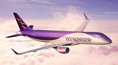 "Espen Hennig-Olsen's new airline will fly non-stop, and uses the name of the candy ""Non-Stops"" found in Hennig-Olsen ice cream. PHOTO: Fly Nonstop"