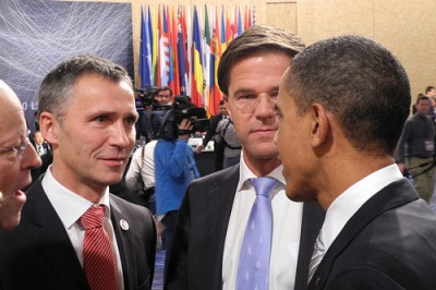 Norwegian Prime Minister Jens Stoltenberg (left) has met newly re-elected US President Barack Obama on several occasions, like here at a NATO summit in Lisbon. PHOTO: Statsministerenskontor