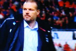 Kjetil Rekdal is known for getting emotional on the playing field. On Wednesday he appeared calm and clean-shaven on NRK, and claimed he just wanted to move forward after being fired as Ålesund's head coach. PHOTO: NRK screen grab/newsinenglish.no