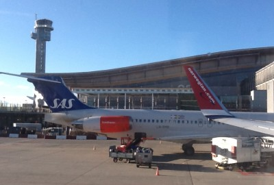 SAS and Norwegian jets park side-by-side at Oslo's main airport at Gardermoen, but are fierce rivals with huge differences in costs, not least those involving executive pay. PHOTO: newsinenglish.no
