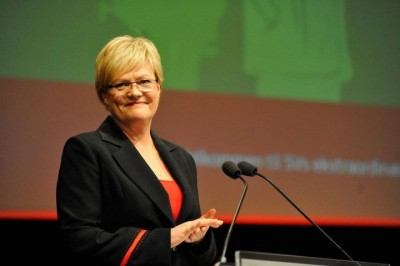 Former Education Minister Kristin Halvorsen also stepped down as head of the Socialist Left party (SV), and now will be chairman of a state museum. PHOTO: SV