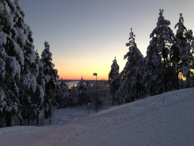 It's been bitterly cold in southern Norway recently including here at Frognerseteren in Oslo. In the distance, the Oslo Fjord, which is freezing over in several places. PHOTO: Pål Schage