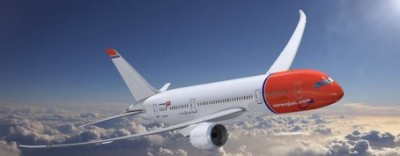 An artist's rendition of Norwegian Air's new Boeing 787, still due to be introduced in late May. ILLUSTRATION: Norwegian