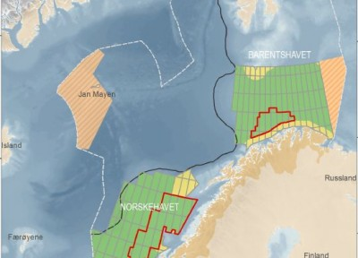 New mapping of the Norwegian Continental Shelf in the Barents and Norwegian seas indicates enormous amounts of oil and gas reserves, much more than previously expected, according to the Norwegian Petroleum Directorate. PHOTO: Olje- og Energidepartementet