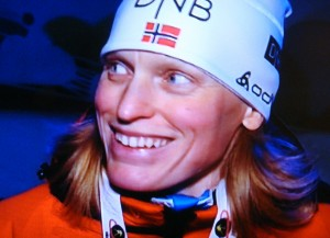 ...and Tora Berger is the queen. PHOTOS: NRK screen grabs/newsinenglish.no