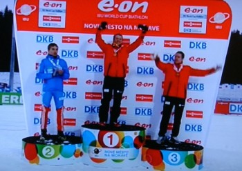Another Norwegian (this time, Tarjei Bø) was back on top of the winners' platform as the Biathlon World Championships ended over the weekend. Another Norwegian, Emil Helge Svendsen, took bronze, adding to the medal haul of 11 in 11 events, including eight gold. NRK screen grab/newsinenglish.no