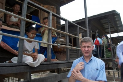 The Norwegian government has long been involved in efforts to promote democracy and development in Myanmar, such as here during the landmark visit of government minister Erik Solheim two years ago. PHOTO: Morten Møst