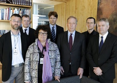 Statoil's new team investigating the terrorist attack in Algeria last month includes (from left) Erling Kristian Handal, Adrian Fulcher, Randi Grung-Olsen, Leif D. Riis, Torgeir Hagen, James Bunn and Pål Eitrheim. PHOTO: Statoil/Ivar Langvik