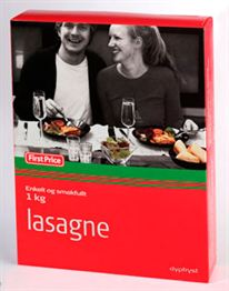 This is the type of lasagne that was for sale in Norway and found to contain horsemeat. PHOTO: NorgesGruppen