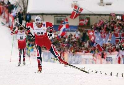 Petter Northug, skiing to yet another Norwegian victory at the FIS Nordic World Ski Championships in Italy on Wednesday. PHOTO: fiemme2013.com/Newspower Canon