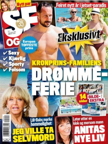 "The Royal Palace is objecting mightily to 14 pages of photographs of a bikini-clad Crown Princess Mette-Marit and her family on holiday in the Caribbean last monght. Magazine ""Se og Hør"" is standing by its story, the cost of the holiday and its right to run the photographs of the royals taken in a public place. PHOTO: Se og Hør"