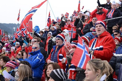 Enthusiastic Norwegian skiing fans could enjoy hearing their national anthem on many occasions during the FIS Nordic World Ski Championships at Val di Fiemme in Italy during the past week. They ended on Sunday, with 19 medals for Norway, eight of them in gold. PHOTO: fiemme2013/Newspower Canon