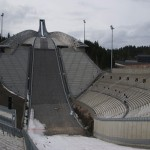 There are a lot of seats and standing areas to fill at Holmenkollen, and organizers are hoping for a much better turnout at the annual World Cup competition this weekend. PHOTO: newsinenglish.no